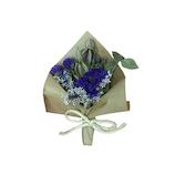 日比谷花壇 ドライフラワー スモールブーケ ブルー