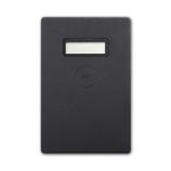 UNIQ(ユニーク) 電子マネー残高表示機能付パスケース miruca(ミルカ) ブラック