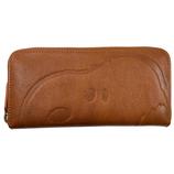 SNOOPY Leather Collection フェイス ラウンド束入れ SN0088 キャメル│財布・名刺入れ 長財布