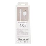 クオリティトラストジャパン ライトニングコネクタ対応 USB充電・通信ケーブル 1.0m QL−049WH ホワイト│携帯・スマホアクセサリー モバイルバッテリー・携帯充電器