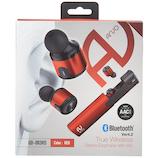 ARVO Bluetooth 完全ワイヤレスイヤホンマイク QB-083 レッド