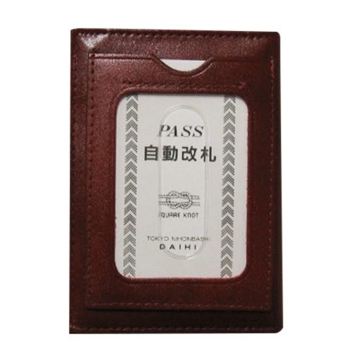 ダイヒ パス 3面 カード YAG49 ワイン 1個│財布・名刺入れ パスケース
