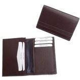 名刺入 型押5段カード KG−50 チョコ