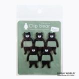 スガイワールド クリップ熊 SWCFBA│クリップ・ステープラー ゼムクリップ