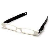 ケースのいらない老眼鏡 白/黒+2.5