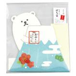 【年賀】ふわり ふわりおみくじシール付き年賀ぽち袋 FWP10633 富士山・しろくま