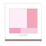 プランドゥーミー(PLANdoME) チークパレット付箋大 ピンク