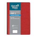 【2020年1月始まり】 クオバディス ABP2/アンパラ 12×17 変形B6 デイリー qv05101rd レッド