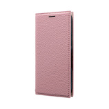 【iPhone12mini】 MSソリューションズ 薄型PUレザーフラップケース FOLINO ライトピンク