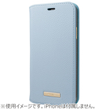 グラマス GRAMAS COLORS Shrink PU Leather Book Case for iPhone XS/X CBCLS-IP04 ライトブルー