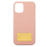 【iPhone12/12Pro】 GRAMAS COLORS Croco Embossed PU Leather Shell Case ベージュピンク│携帯・スマホケース iPhoneケース
