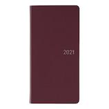 【2020年12月始まり】 ほぼ日 weeks ウォレットサイズ ウィークリーホリゾンタル ファインクラシック ワインレッド 月曜始まり