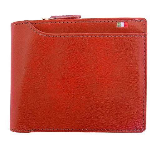 ミラグロ イタリアンレザー・23ポケット 二つ折り財布 CA-S-572 オレンジ
