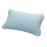 aeria 三河木綿 脱脂綿入り ガーゼ枕パッド シングル 2G‐MP32 ブルー