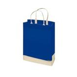 PC114キャリーバッグ ブルー/アイボリー│ラッピング用品 手提げ袋