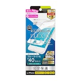 【iPhoneSE(第2世代)/8/7/6s/6】 simplism FLEX 3D 複合フレームガラス ブルーライト低減 ホワイト│携帯・スマホアクセサリー 液晶保護フィルム