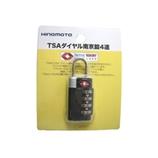JTB TSAダイヤル南京錠 4連 223504