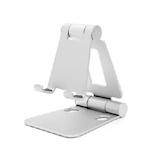 ARCHISS mini DOUBLE SWING-STAND BY ME 折りたたみ式スマートフォンスタンド シルバー│収納・クローゼット用品 携帯・スマホスタンド