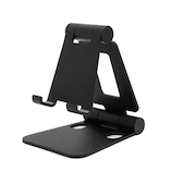 ARCHISS mini DOUBLE SWING-STAND BY ME 折りたたみ式スマートフォンスタンド ブラック│収納・クローゼット用品 携帯・スマホスタンド