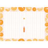 あたぼうステーショナリー 飾り原稿用紙 蜜柑網 A4 GK0012 橙×赤