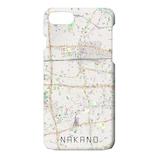 【iPhone8/7/6S/6】 地図柄Phoneケース バックカバータイプ 中野/ナチュラル