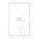 【2020年10月始まり】 マトカ(MATOKA) マーブル B6 マンスリー DR-MG-223 ホワイト 月曜始まり