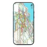 【iPhoneXS/X】 東京路線図 iPhoneケース ホワイト