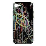【iPhone8/7/6S/6】 東京路線図 iPhoneケース ブラック