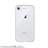 【iPhoneSE(第2世代)/8/7】 ハッシュフィート ウルトラプロテクトケース ラメバンパー HF-CTISE2-4H02 シルバーグリッター