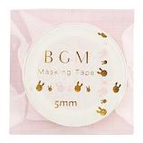 BGM マスキングテープ BM−LSG002 ラビット ピンク