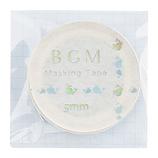 BGM マスキングテープ BM−LSG004 鯨 ブルー