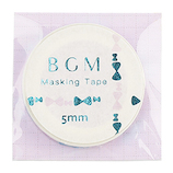 BGM マスキングテープ BM−LSG005 リボン パープル