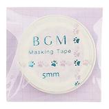 BGM マスキングテープ BM−LSG006 足跡 パープル