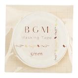 BGM マスキングテープ BM−LSG009 音符 イエロー