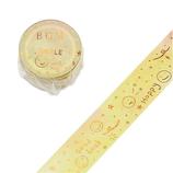 ビージーエム(BGM) マスキングテープ スペシャル箔押し マカロン色銀河 20mm BM−SPMG007 黄色スマイル│シール マスキングテープ
