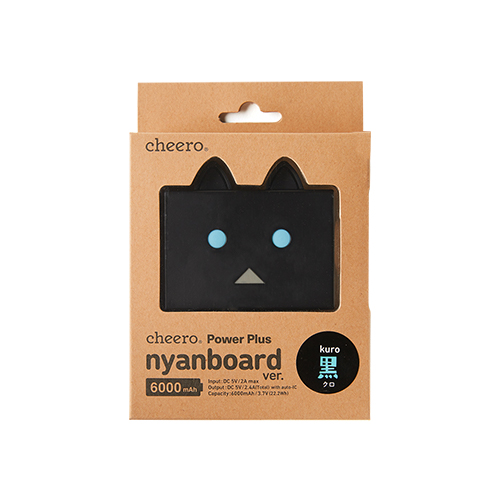 cheero Power Plus 6000mAh nyanboard version クロ CHE-073-KU