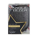 タングルティーザー(TANGLE TEEZER) コンパクトスタイラー ブラックグリッター│ヘアブラシ・散髪用品 ヘアブラシ