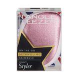 タングルティーザー(TANGLE TEEZER) コンパクトスタイラー ピンクグリッター│ヘアブラシ・散髪用品 ヘアブラシ