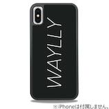 【iPhoneX】 ケースオクロック ウェイリー(WAYLLY) ロゴ・ホワイト WL8-LG-WH