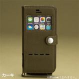【iPhone6s/iPhone6】 4.7インチ ROOT window手帳ケース カーキ
