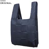 東急ハンズオリジナル ポケットスクエアバッグ 大容量タイプ ネイビー│エコバッグ・ショッピングカート