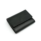 DELLA コンパクト三つ折り財布 ブラック│財布・名刺入れ 革財布
