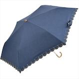 ニフティカラーズ 遮光 デニムプリント スタースカラ ミニ 50cm 2162NV ネイビー│レインウェア・雨具 日傘