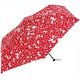 ニフティカラーズ フラワーレイヤーカーボン 軽量ミニ 55cm 1426RD レッド│レインウェア・雨具 折り畳み傘