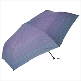 ニフティーカラーズ(NiftyColors) ボーダーチェックカーボン軽量ミニ60 5134NV ネイビー│レインウェア・雨具 折り畳み傘