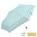 ニフティーカラーズ(NIFTY COLORS) 遮光デイジー刺繍ミニ 2306MG ミントグリーン│レインウェア・雨具 日傘