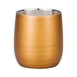 漆磨カップ 2重ロックカップだるま 250mL パールゴールド│食器・カトラリー グラス・タンブラー