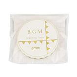 BGM マスキングテープ ライフ小さな旗 金箔 5mm BM−LGWS003