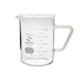 セキヤ ビーカー 取っ手付 500mL 72-800-041 ホワイト│実験用品 ビーカー・フラスコ
