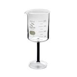 セキヤ ビーカーワイングラス 200mL 72-800-142 ブラック│実験用品 ビーカー・フラスコ